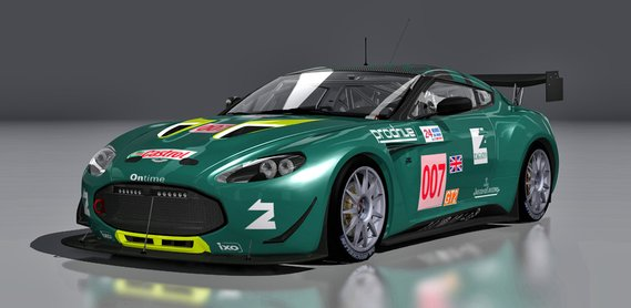 Aston Martin Zagato VLN car mod for Assetto Corsa