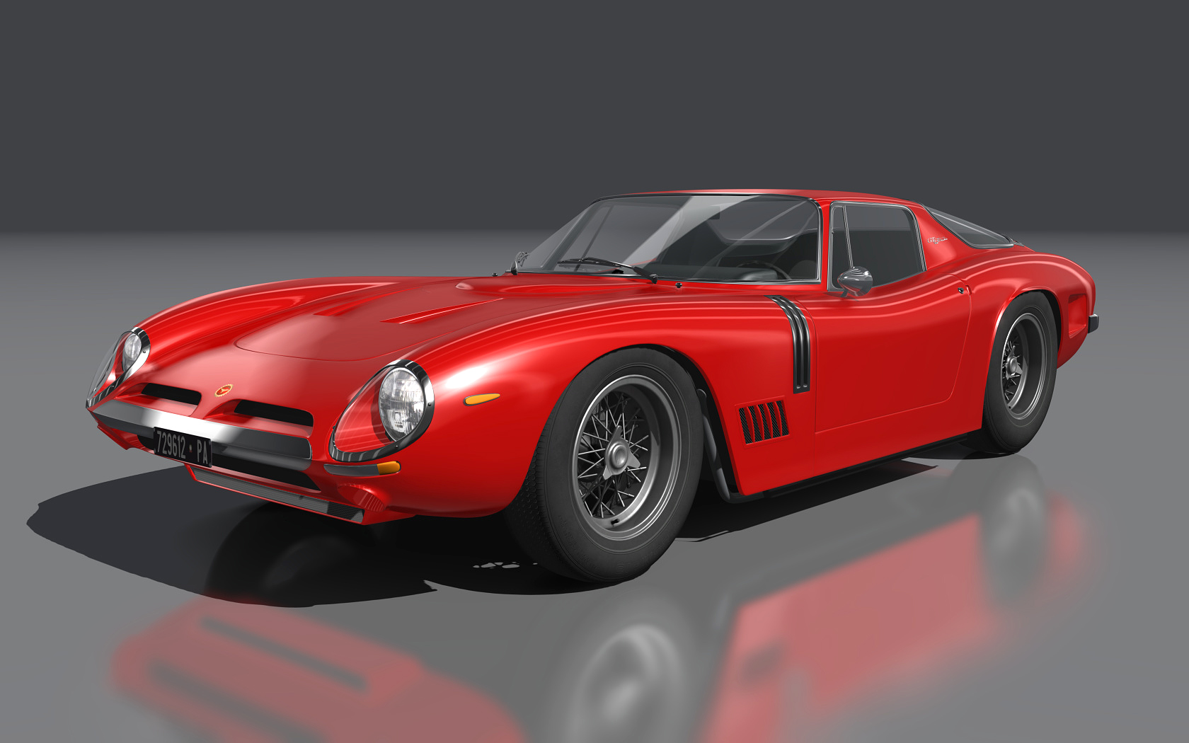Bizzarrrini GT 5300 Strada car mod for Assetto Corsa